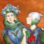 deux femmes qui discutent par Capucine Mazille illustratrice