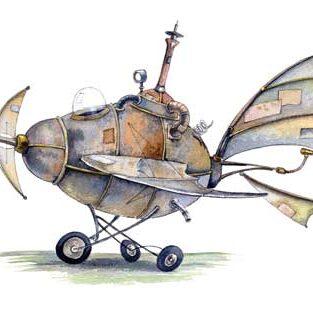 illustration avion fantastique