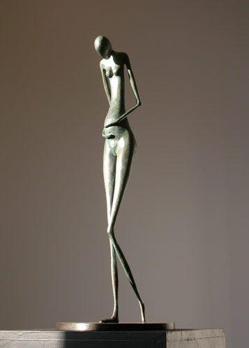 femme sculpture contemporaine