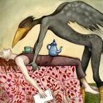 Homme-corbeau par Capucine mazille illustrateur