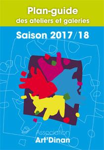 Plan-guide des ateliers et galeries Art'Dinan 2017/2018