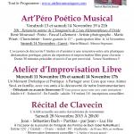 4 évènements à l'Atelier à Musiques