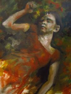 Danielle Delgrange, 115 x 75, huile sur carton