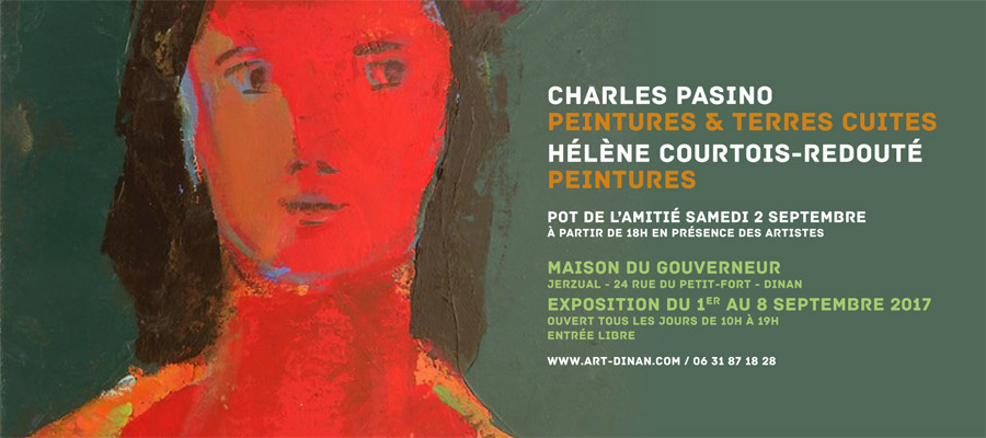 Charles Pasino, peintures et terres cuites - Hélène Courtois-Redouté, peintures