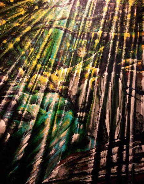 forêt, Fabrice Rabin artiste peintre Dinan tourisme côtes d'armor bretagne