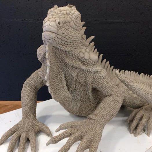 iguane Nathalie Leroy-Daniel sculpteur artiste créateur ville Dinan côtes-d'armor tourisme bretagne