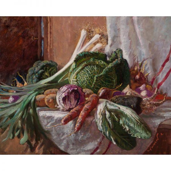 nature morte still life légumes Rinat Animaev artiste peintre Dinan tourisme côtes d'armor bretagne
