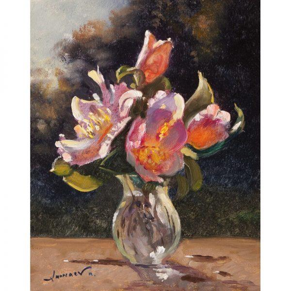 fleurs Rinat Animaev artiste peintre Dinan tourisme côtes d'armor bretagne