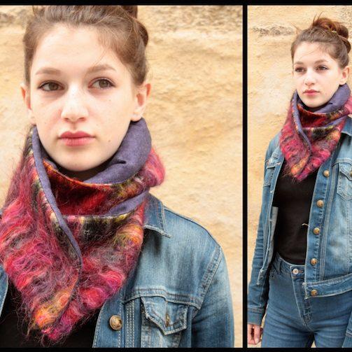 foulard tartine de laine artiste artisan d'art créateur ville Dinan côtes-d'armor tourisme bretagne