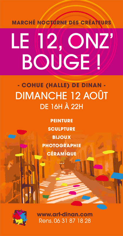 Flyer onz'bouge art'dinan 2018
