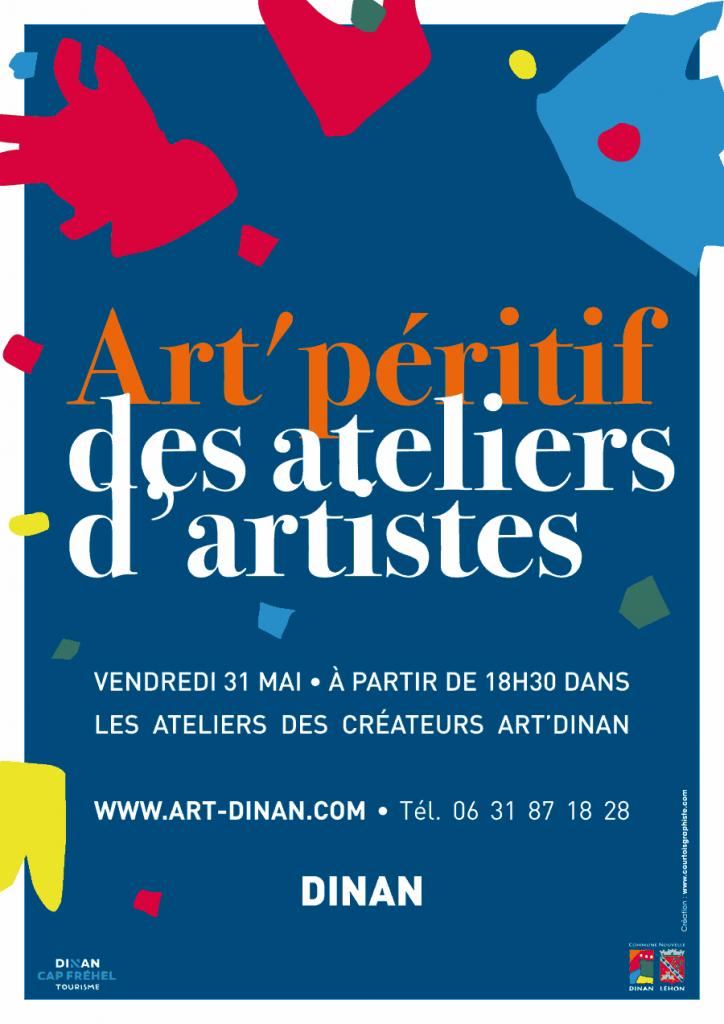 affiche art'péritif des ateliers d'artistes art'dinan 2019