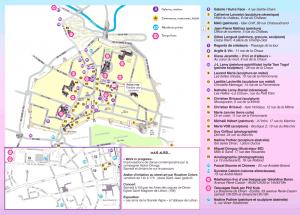 plan parcours l'art est dans la ville à Dinan 2019