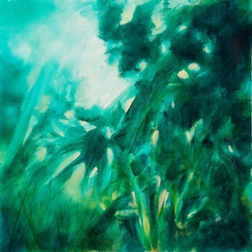 nuit au jardin, peinture de fabienne monestier