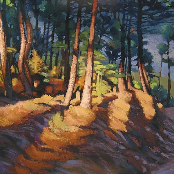 Forêt, peinture de Hélène Courtois-Redouté