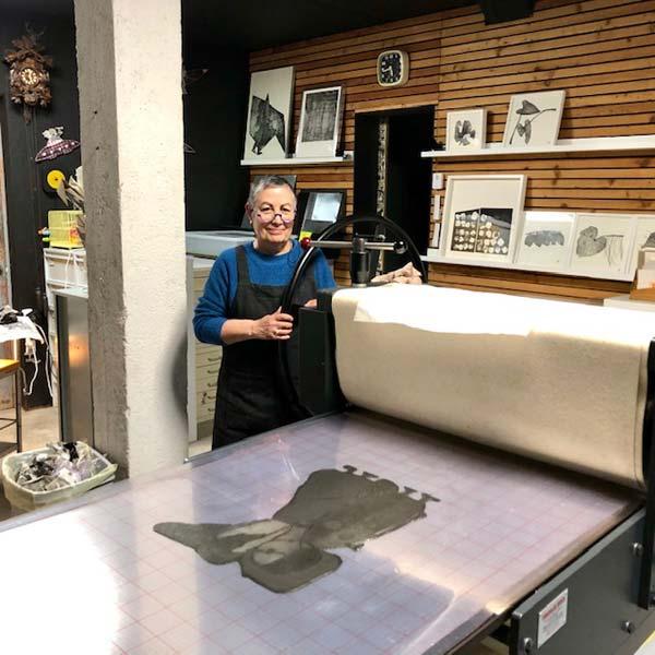Atelier de Brigitte Touvron, graveur