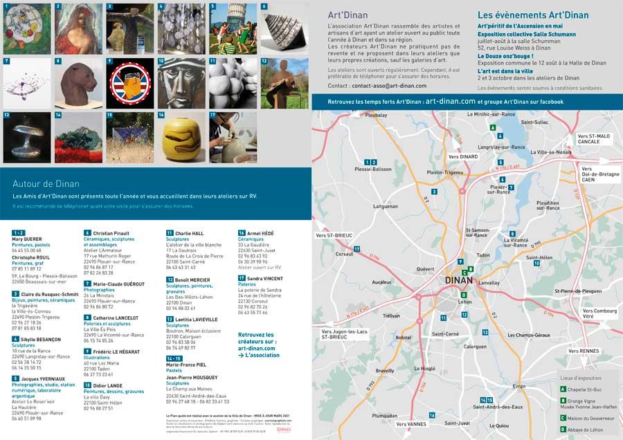 Plan-guide 2021 des ateliers et galeries Art'Dinan