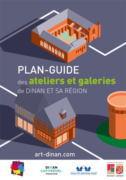Plan guide Art Dinan des ateliers et galeries 2021