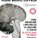 Fête de l'estampe à Dinan en 2021 avec ouverture de l'atelier de gravure de Brigitte Touvron