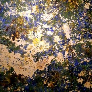 Peinture arbre bleu et vert, Louis Lemée