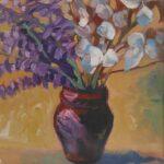 Bouquet de fleurs, peinture de Hélène Courtois-Redouté