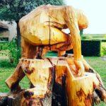 Sculpture sur bois Phyl Meyer